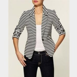 Catherine Maladrino NWT Striped Blazer Jacket XL